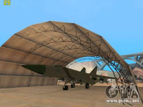 El MiG 25 para GTA San Andreas left