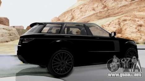 GTA 5 Gallivanter Baller LE IVF para GTA San Andreas vista posterior izquierda