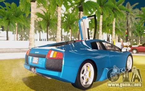 Lamborghini Murcielago 2005 para la vista superior GTA San Andreas