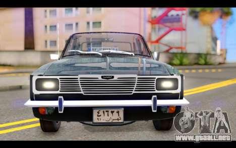 Peykan 1347 Classic para GTA San Andreas vista hacia atrás