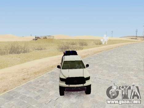 Toyota Tundra 2012 Semi-Off-road para la visión correcta GTA San Andreas