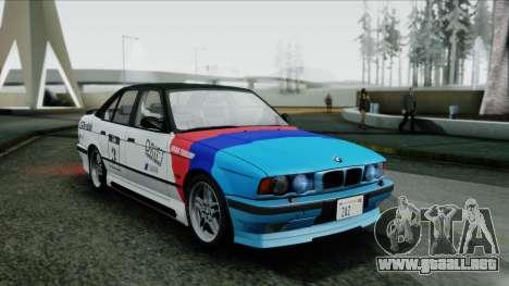 BMW M5 E34 US-spec 1994 (Full Tunable) para GTA San Andreas vista hacia atrás