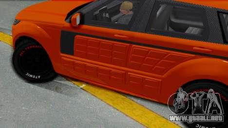 GTA 5 Gallivanter Baller LE Arm IVF para GTA San Andreas vista posterior izquierda