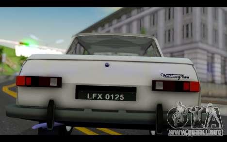 Wartburg 353 para visión interna GTA San Andreas