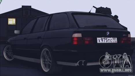 BMW M5 E34 Touring 1995 para la visión correcta GTA San Andreas