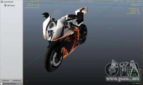 KTM 1190 RC8 R para GTA 5
