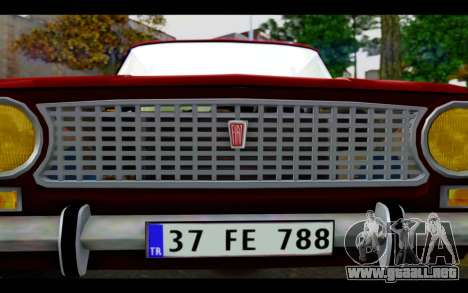 Fiat 124 para vista lateral GTA San Andreas