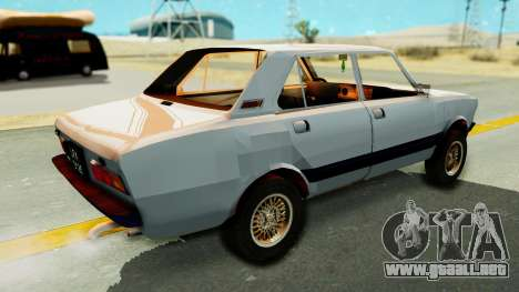 Fiat 132 para GTA San Andreas vista posterior izquierda