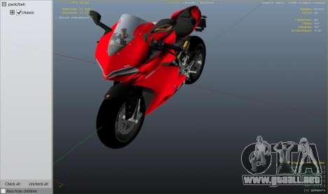 GTA 5 Ducati 1299 Panigale S v1.1 vista lateral derecha