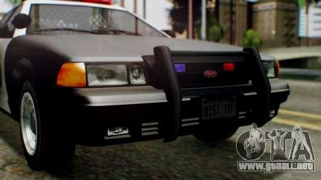 GTA 5 Police LV para visión interna GTA San Andreas