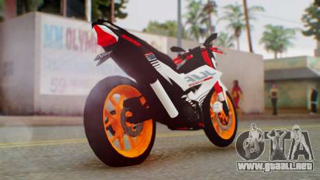 Honda Sonic 150R KingLivery para GTA San Andreas left