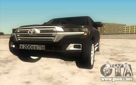 Toyota Land Cruiser 200 2016 para GTA San Andreas left