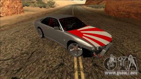 Nissan Silvia S14 Drift JDM para visión interna GTA San Andreas