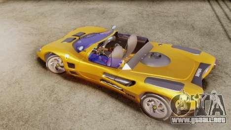 Ferrari P7 Cabrio para GTA San Andreas vista posterior izquierda