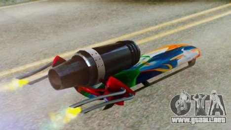 Flying Hovercraft New Skin para la visión correcta GTA San Andreas