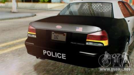 GTA 5 Police LV para GTA San Andreas vista hacia atrás