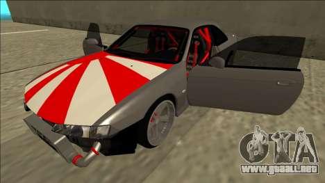 Nissan Silvia S14 Drift JDM para vista inferior GTA San Andreas