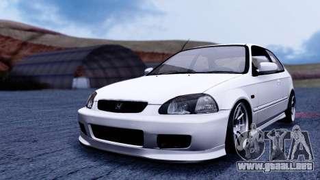 Honda Civic 1.6 Hatchback para la visión correcta GTA San Andreas
