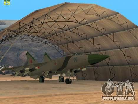 El MiG 25 para GTA San Andreas