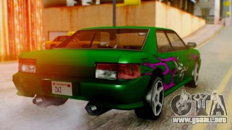El sultán Винил из need For Speed Underground 2 para GTA San Andreas left