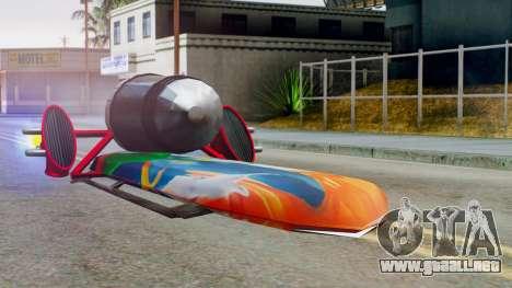 Flying Hovercraft New Skin para GTA San Andreas vista posterior izquierda