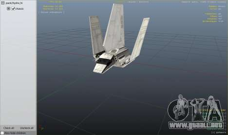 GTA 5 Star Wars: Imperial Shuttle Tydirium sexta captura de pantalla