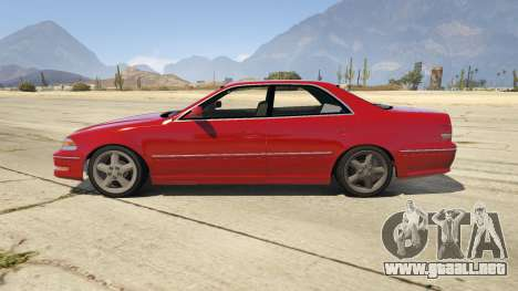 GTA 5 Toyota Mark II JZX100 Tunable vista lateral izquierda