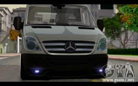 Mercedes-Benz Sprinter para GTA San Andreas vista hacia atrás