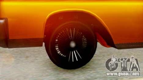 GTA 5 Vapid Chino Tunable para GTA San Andreas vista posterior izquierda