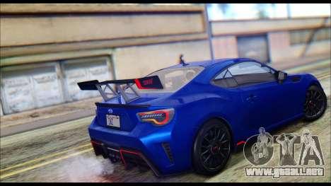Subaru BRZ STi Concept 2016 para GTA San Andreas left