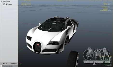 GTA 5 Bugatti Veyron v6.0 vista lateral trasera derecha