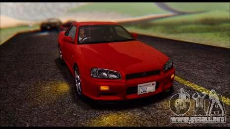 Nissan Skyline R-34 GT-R V-spec 1999 No Dirt para la visión correcta GTA San Andreas