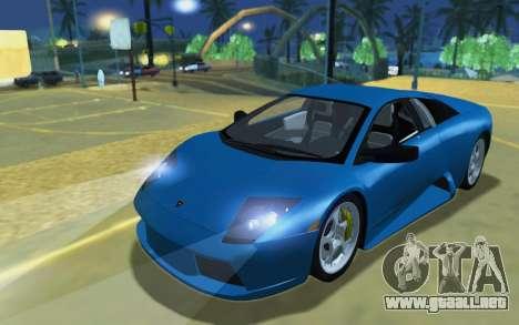 Lamborghini Murcielago 2005 para GTA San Andreas left