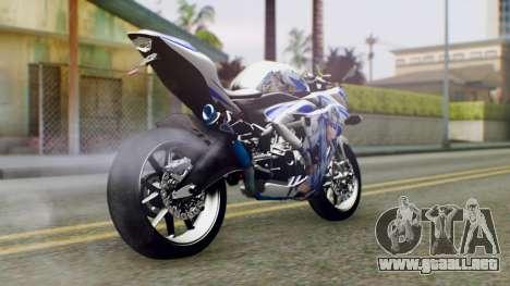 Yamaha YZF R-25 Kos-Mos Xenosaga Itasha 2014 para GTA San Andreas left