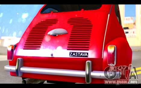 Zastava 750 - The Cars Movie para visión interna GTA San Andreas