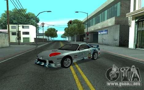 Mazda RX-7 Tunable para GTA San Andreas vista posterior izquierda