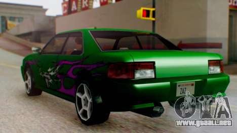 El sultán Винил из need For Speed Underground 2 para GTA San Andreas vista posterior izquierda