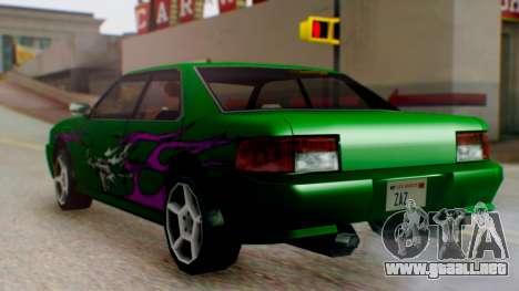 El sultán Винил из need For Speed Underground 2 para GTA San Andreas vista posterior izquierda