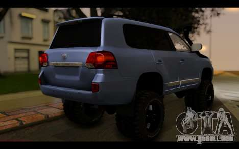 Toyota Land Cruiser 200 2013 Off Road para GTA San Andreas left