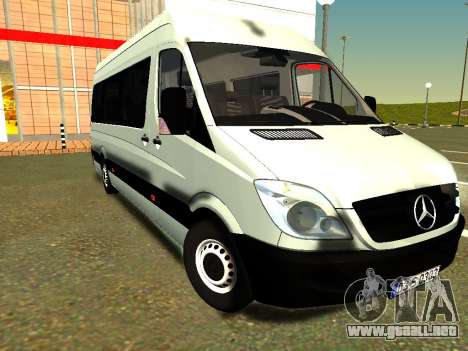 Mercedes-Benz Sprinter Long para GTA San Andreas vista hacia atrás