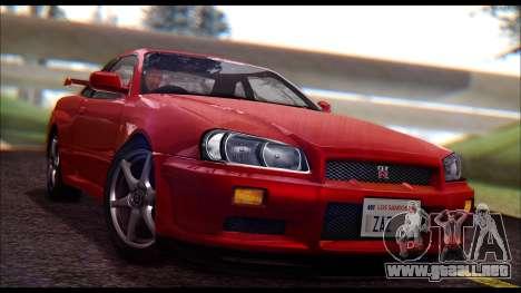 Nissan Skyline R-34 GT-R V-spec 1999 No Dirt para GTA San Andreas