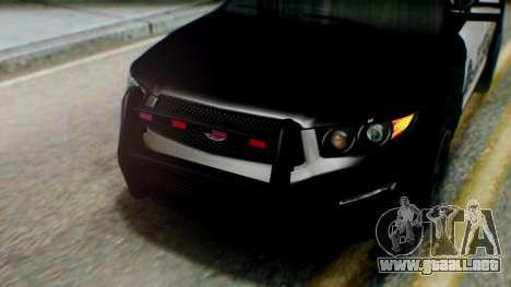 GTA 5 Police SF para GTA San Andreas vista hacia atrás