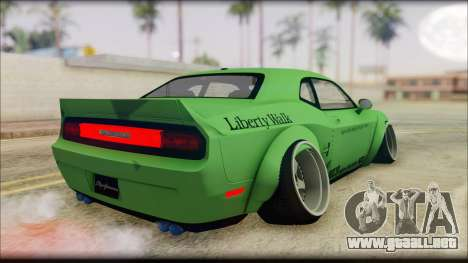 Dodge Challenger LB Perfomance para GTA San Andreas left