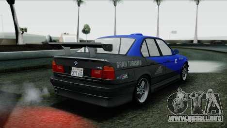 BMW M5 E34 US-spec 1994 (Full Tunable) para la vista superior GTA San Andreas