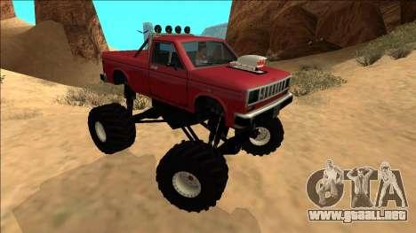 Bobcat Monster Truck para la visión correcta GTA San Andreas