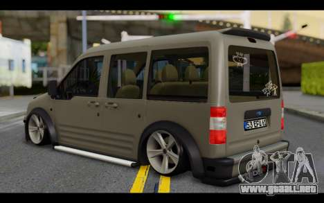 Ford Connect Rizeli para GTA San Andreas left