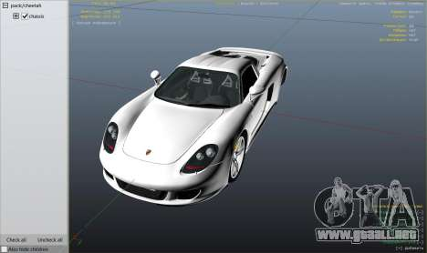 GTA 5 Porsche Carrera GT 2.0 vista lateral derecha
