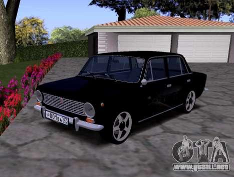 VAZ 2101 KBR para GTA San Andreas vista hacia atrás