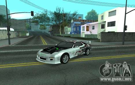 Mazda RX-7 Tunable para GTA San Andreas vista hacia atrás