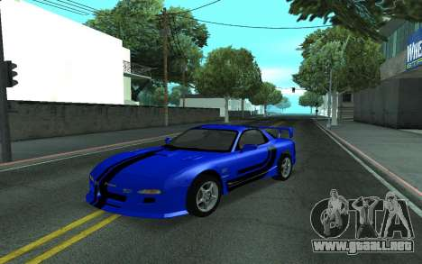 Mazda RX-7 Tunable para vista lateral GTA San Andreas